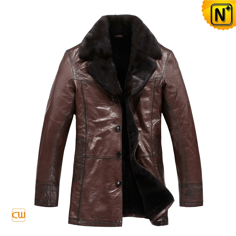 Brown Sheepskin Coat for Men London