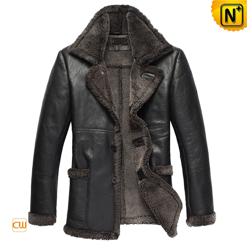 Designer Black Sheepskin Coat