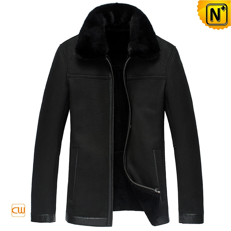Black Genuine Sheepskin Jacket