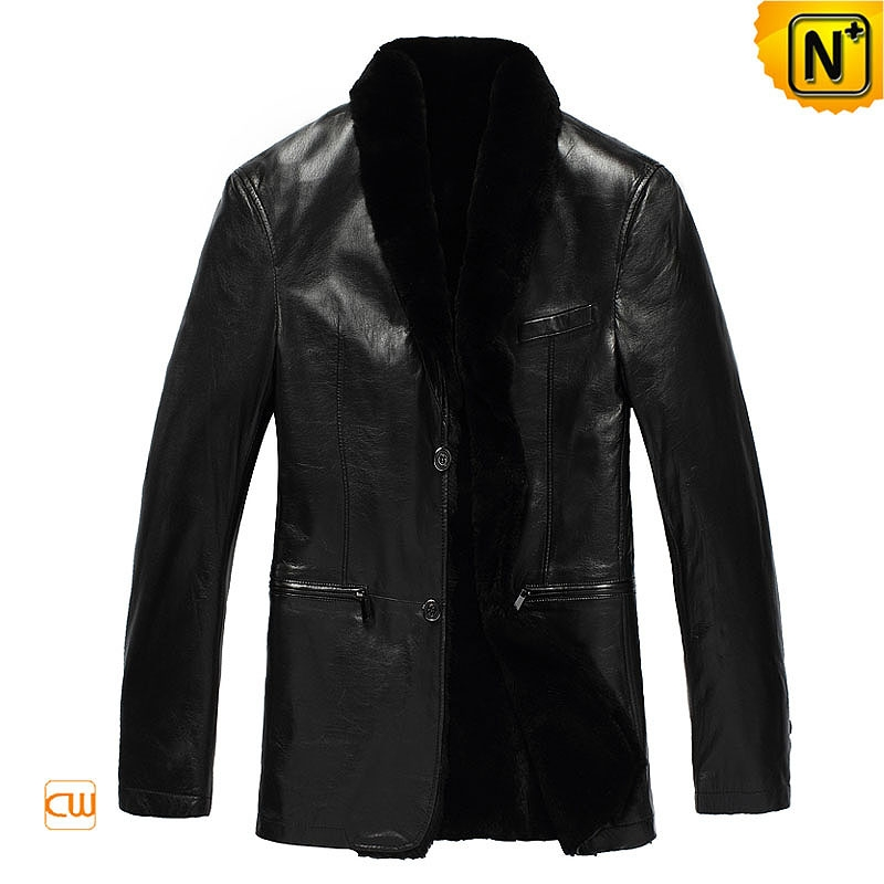 Genuine Black Sheepskin Coat