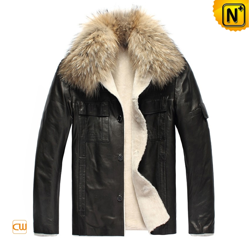 Genuine Sheepskin Jacket Mens