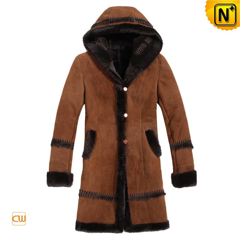 Women Vintage Hooded Sheepskin Coat