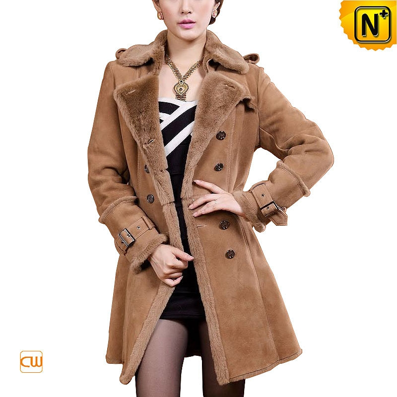 Women Shearling Lined Long Coat