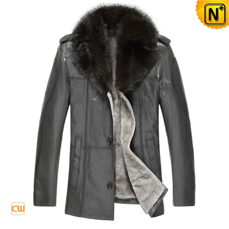 High End Sheepskin Jacket Men cw877211
