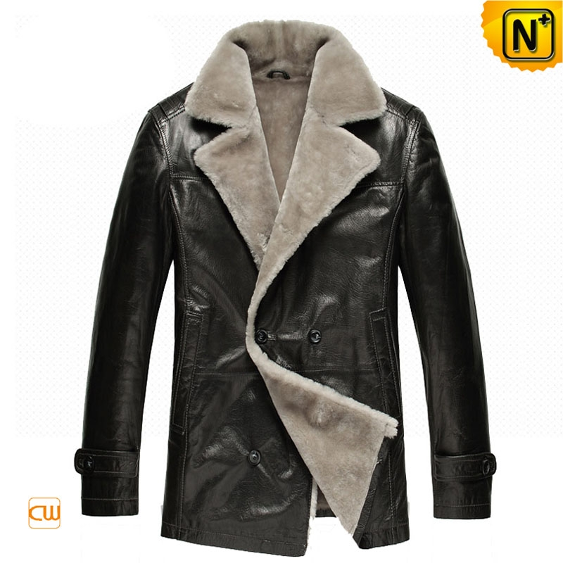 Mens Fur Shearling Sheepskin Coat