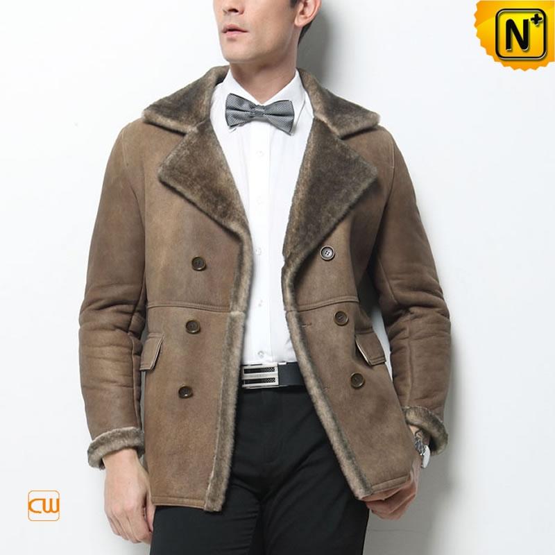 Vintage Sheepskin Coat Men Poland